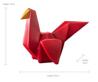 Nordic geometric origami three-dimensional bird ornaments