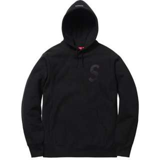 Supreme FW17 S Logo Hoodie Black Size M