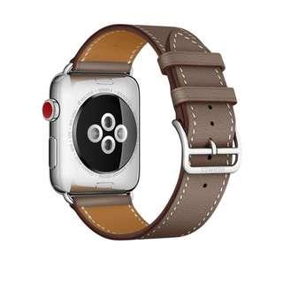 Apple Watch Hermes 42mm Etoupe Swift Leather Single Tour