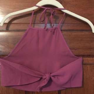 Artizia Sunday Best Halter Crop Top