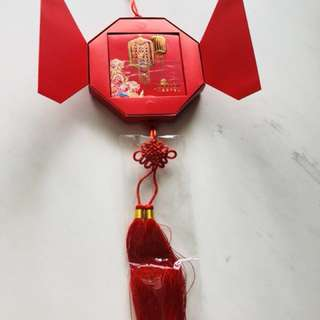 Ornament with ang pow red packet