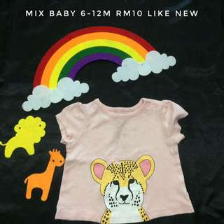 Mix Baby Pink Jaguar Tee
