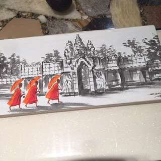 Canvas art piece from Cambodia