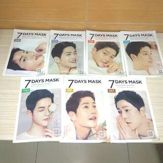 FORENCOS 7 days Song Jong Ki sheet mask