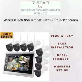 CCTV - Wireless Camera - IP Wireless Camera - Network Video Recorder - Weatherproof/Vandal-proof HD Surveillance Camera - Plug&Play (01 Year Warranty)