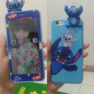 softcase 3D boneka + tempered glass karakter