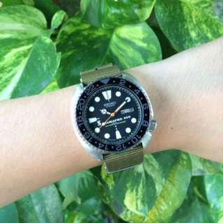 Authentic Seiko Turtle Padi Modified
