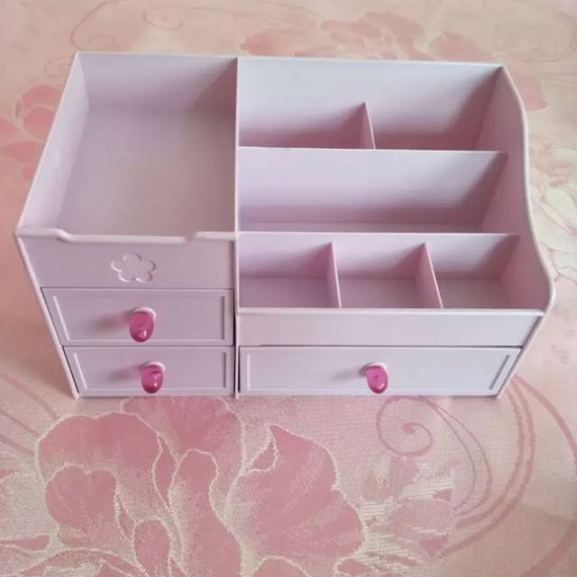 3-drawer plastic storage box
