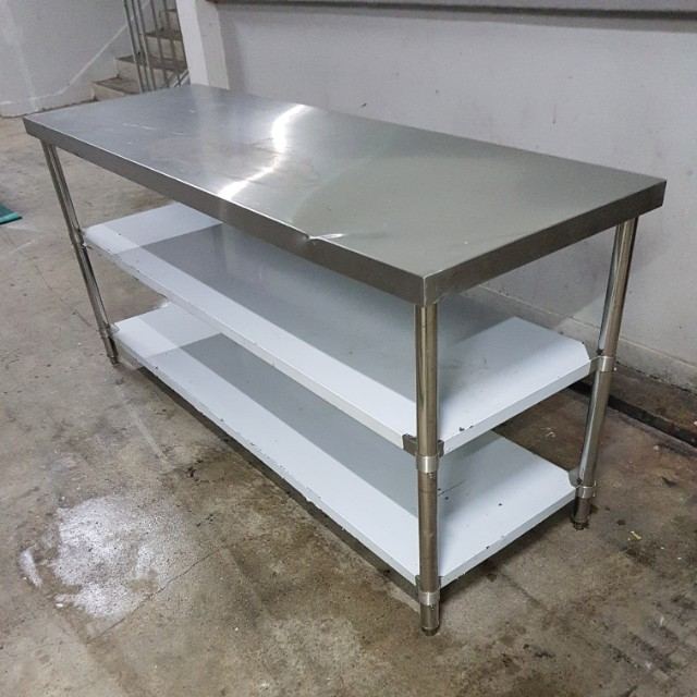 6ft  3Tier Stainless Steel Table