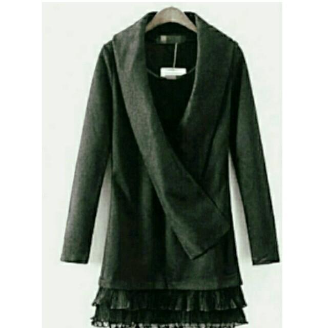 可單穿長版棉質修身顯瘦套頭毛針織衣