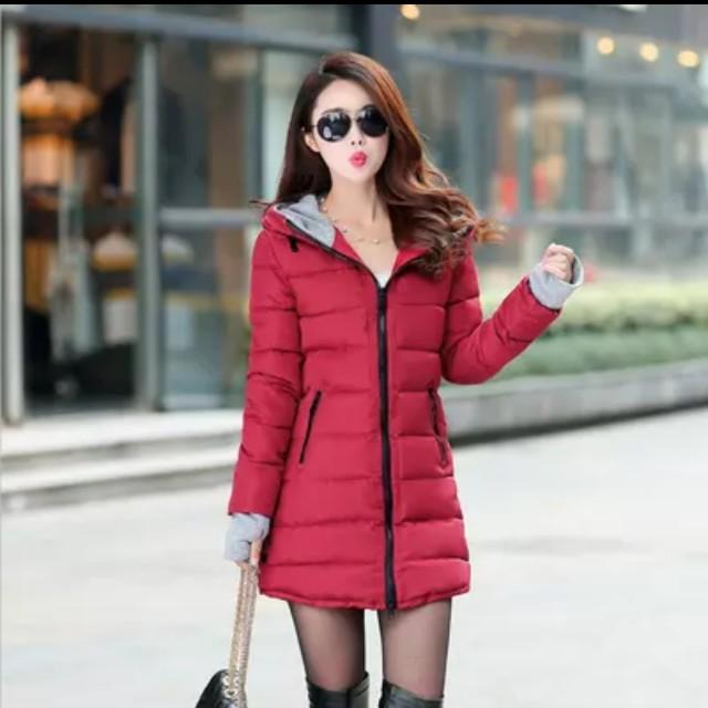 冬季修身羽絨棉中長款加厚時尚韓版舖棉外套