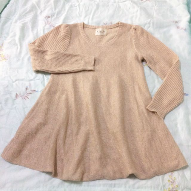 韓版金蔥針織傘狀上衣