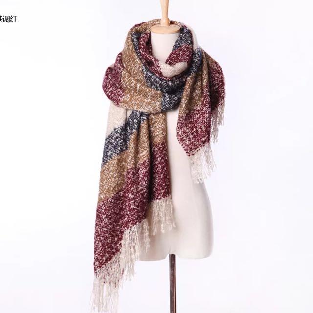 馬海毛圍巾