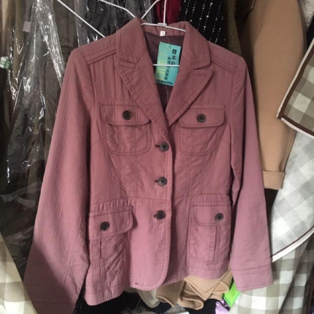 正韓 粉紫色外套