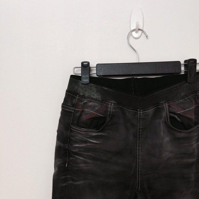 🖤黑灰 作舊 水洗 鬆緊 彈性 牛仔褲 黑牛仔褲 #大掃除五折