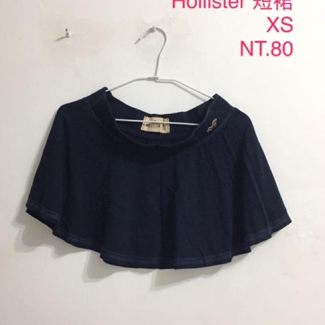 二手 短裙 深藍色 XS 9成新