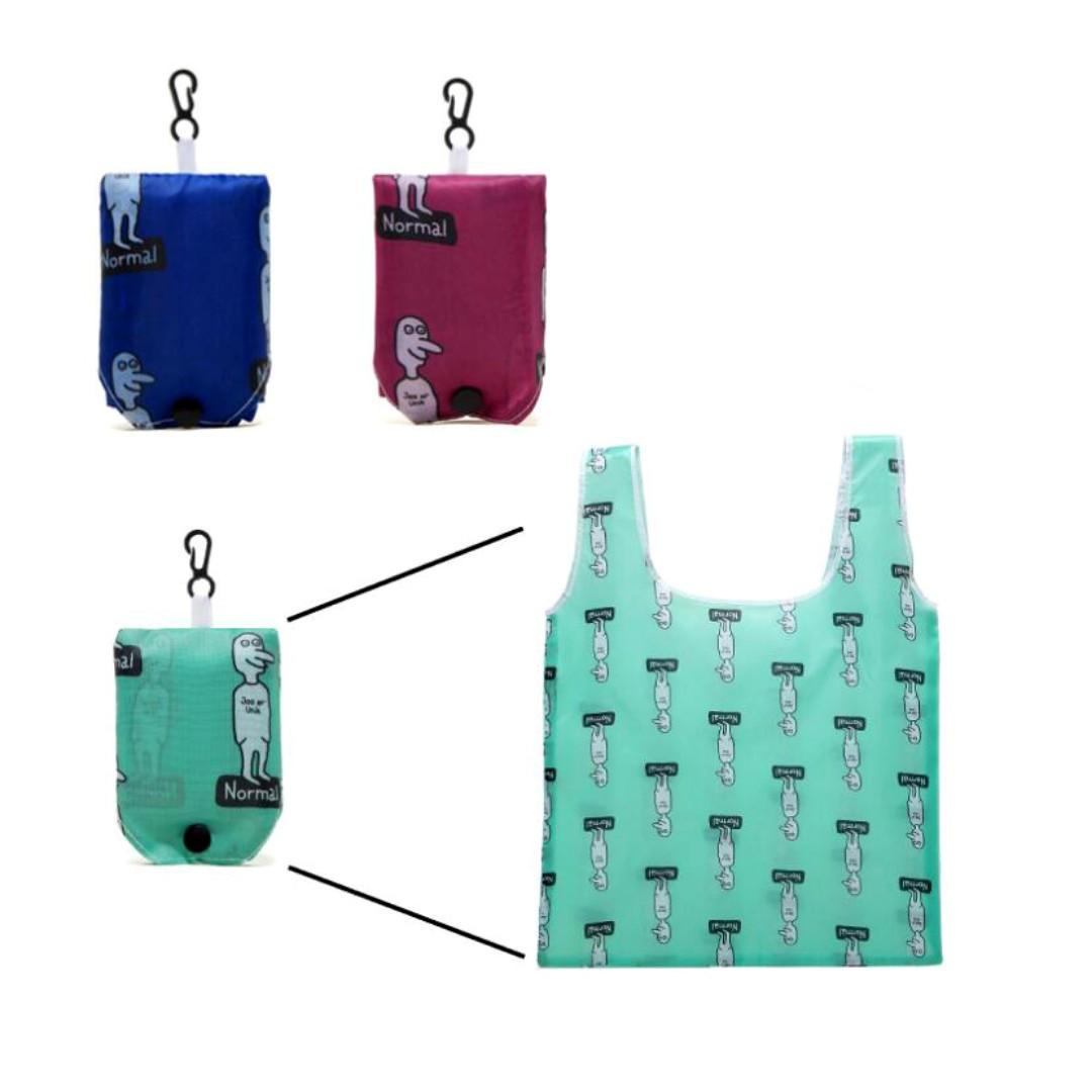 丹麥 知名連鎖個人護理產品零售商 Normal 多功能折疊購物袋 手提袋 環保袋 環保購物袋