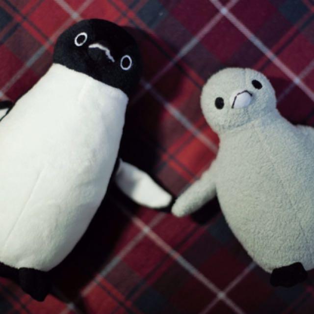 日本限定版 suica 企鵝玩偶(一組兩隻) 含運