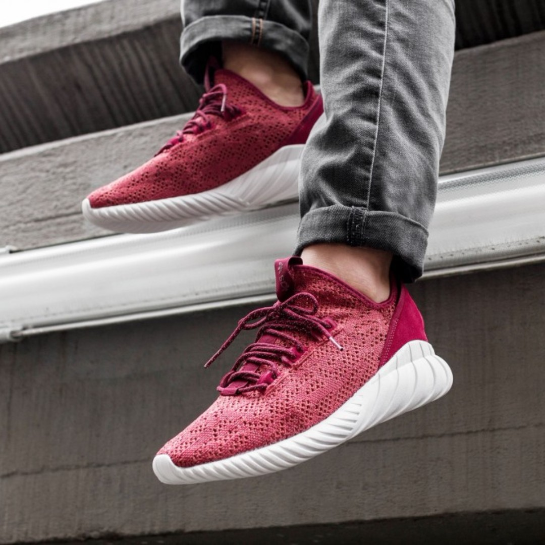9577beeb Adidas Tubular Doom Sock PK 2 - Mystery Red, Men's Fashion, Footwear ...