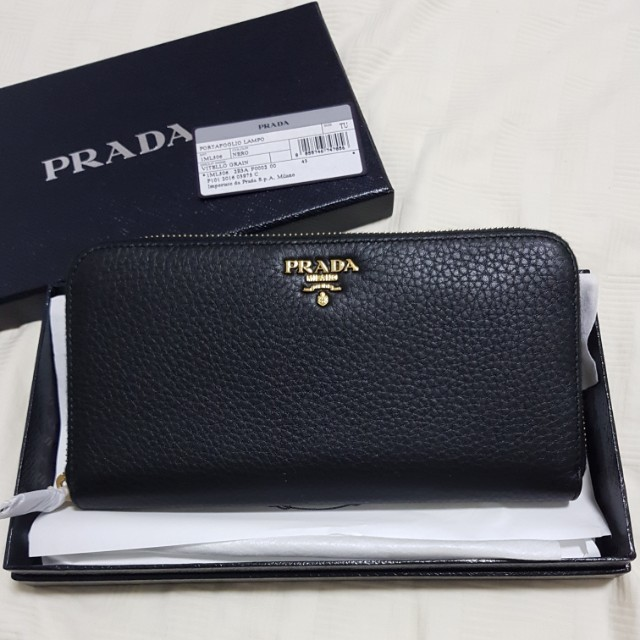eb23fa9c426d Authentic black Prada wallet, Luxury, Bags & Wallets on Carousell