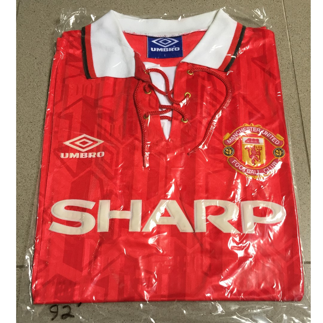 32ff09d7e Authentic Manchester United FC 92 Home Jersey