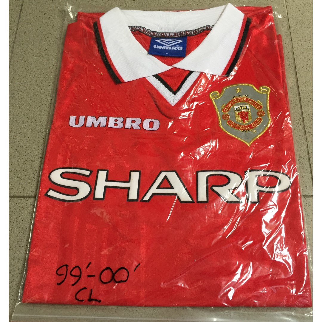 aa9b58b57 Authentic Manchester United FC 99 00 CL Home Jersey