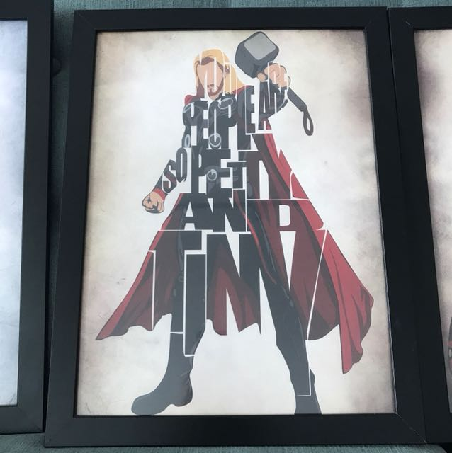 Avengers Poster Black Frame
