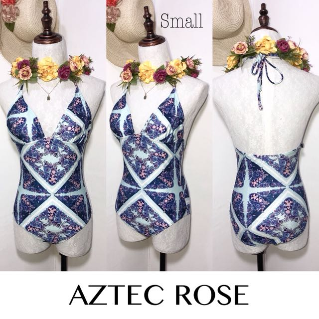 Aztec Rose Branded One Piece Swimsuit FO34
