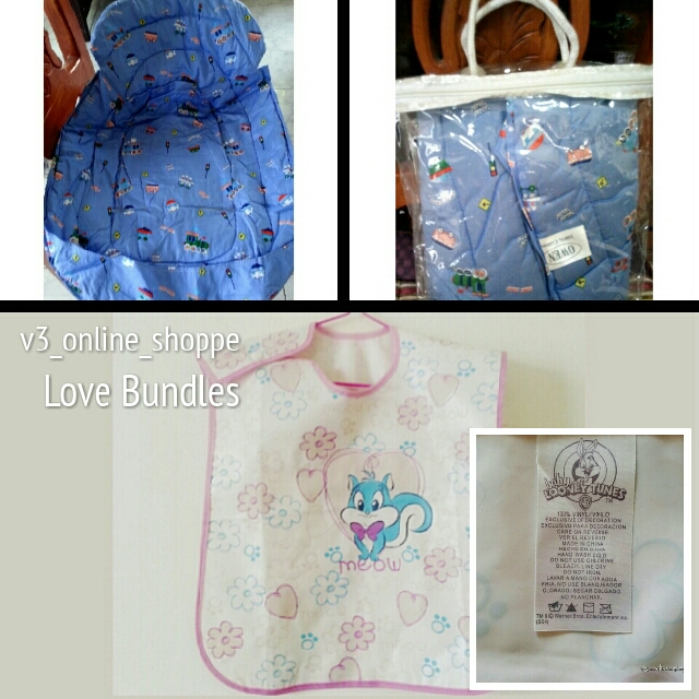Baby Looney Toons Bib Waterproof & Owen Carrier Pad