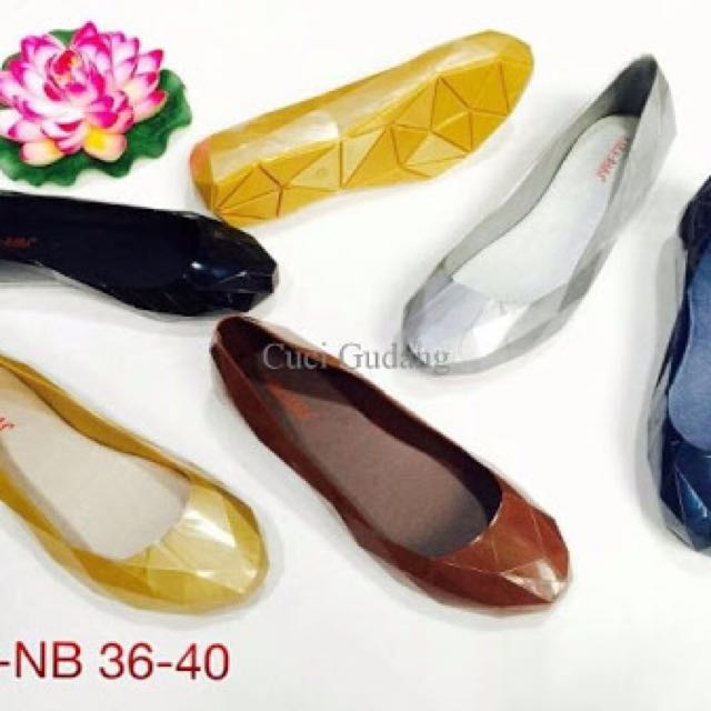 Bara bara prisma jelly flat shoes