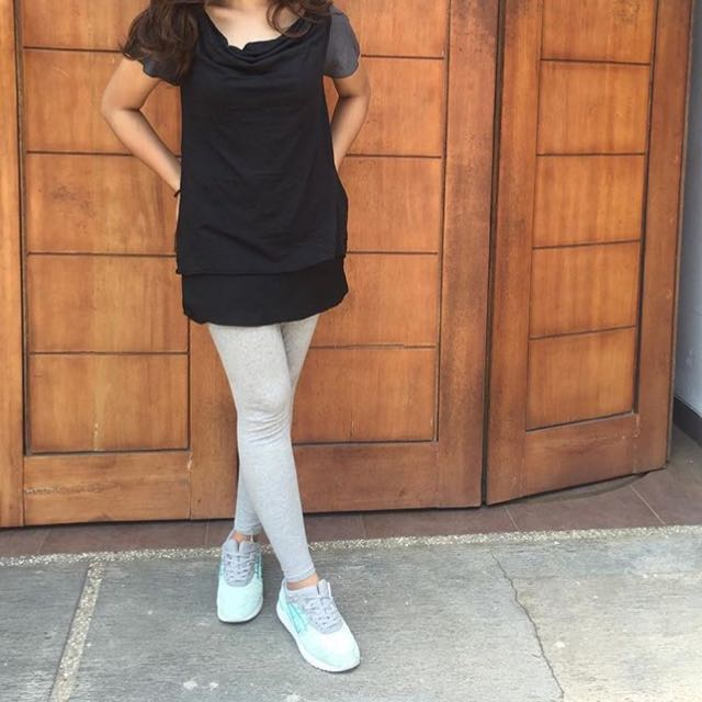 Black Grey Tshirt
