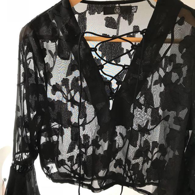Black Sheer Lace top