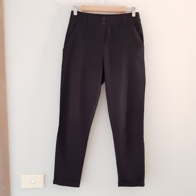 Black slacks suit pants