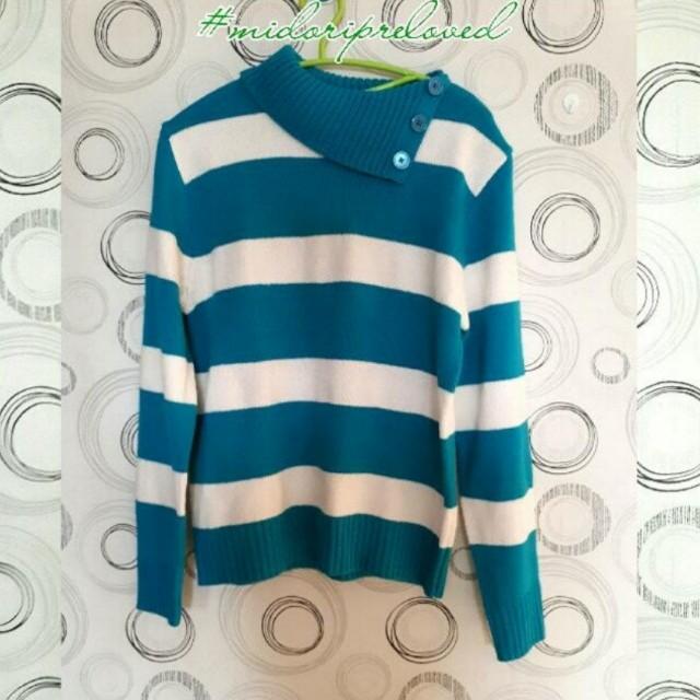 Blue White Sweater