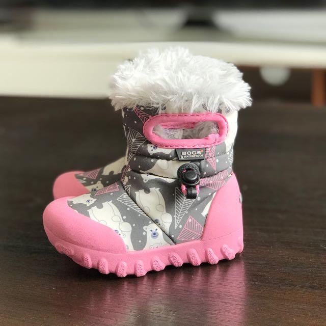 Bogs Baby Girl Waterproof Snow Boots 12