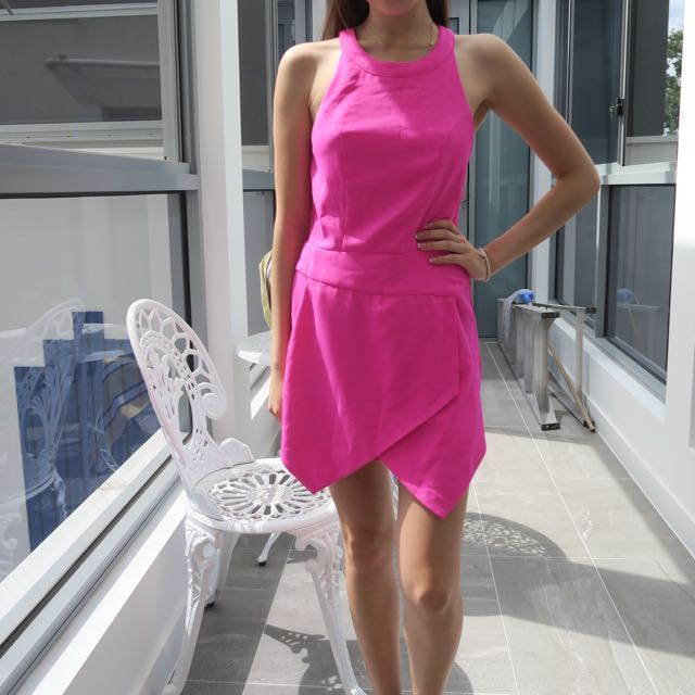 Boutique Bright Pink Playsuit XS/S