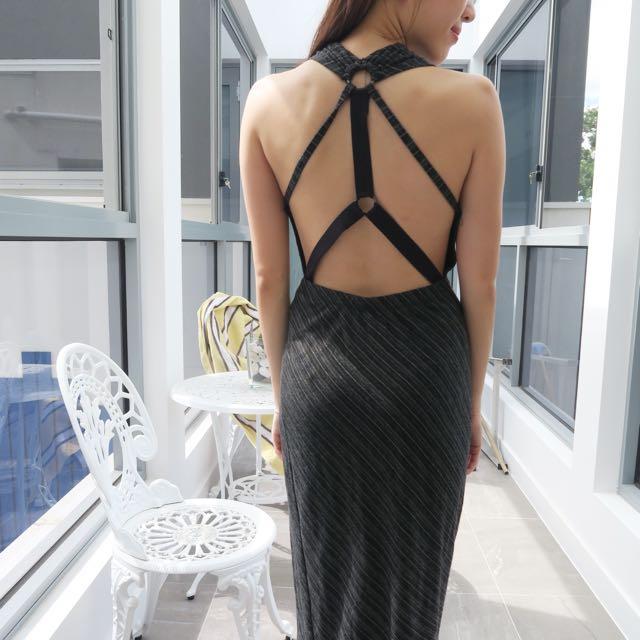 Boutique Midi Dress Back Detail