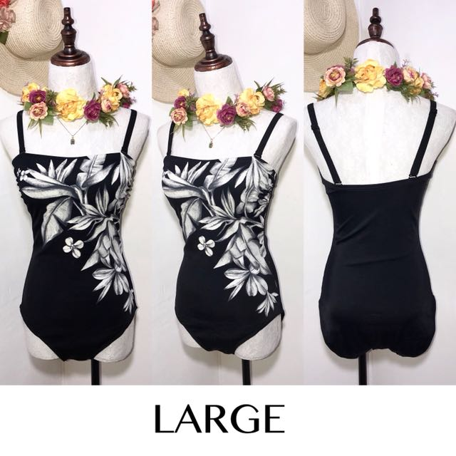 Branded Black One Piece Swimsuit FO33