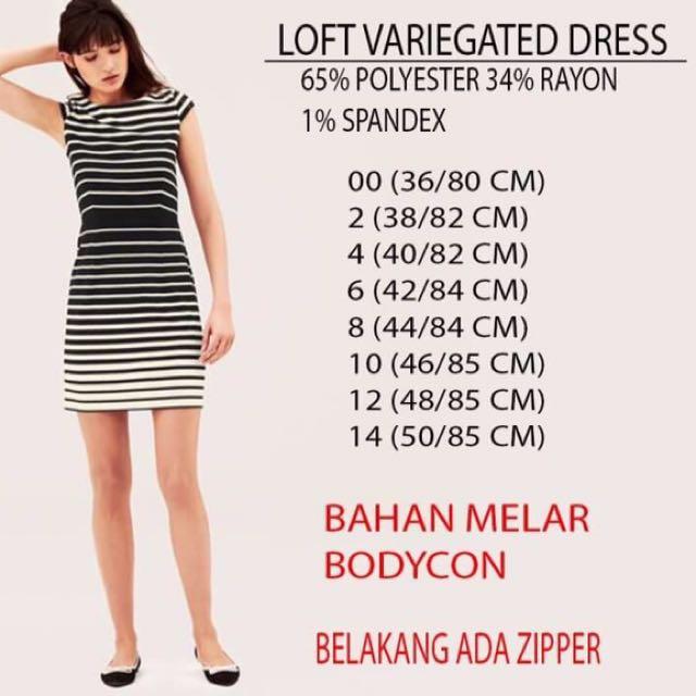 Branded LOFT Variegated dress