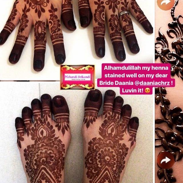 Bridal Henna Art Health Beauty Hand Foot Care On Carousell