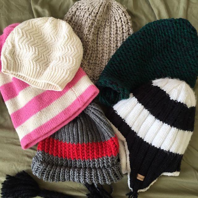 Bundle of 6 Bonnet / bonet / headwear / thermal
