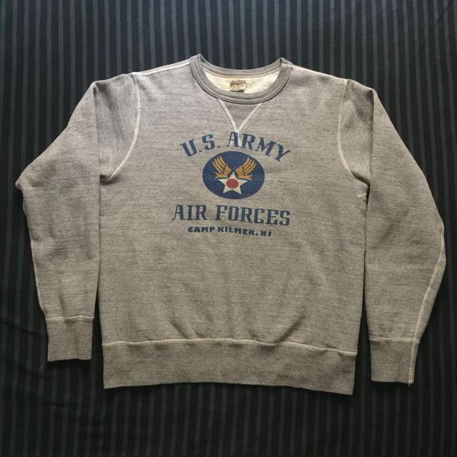 Buzz ricksons 衛衣 大學T 復古 us Army Air Forces 雪花 重磅 非 美軍公發