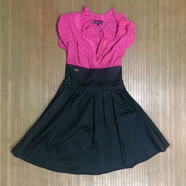 CANDIES Pink And Black Dress