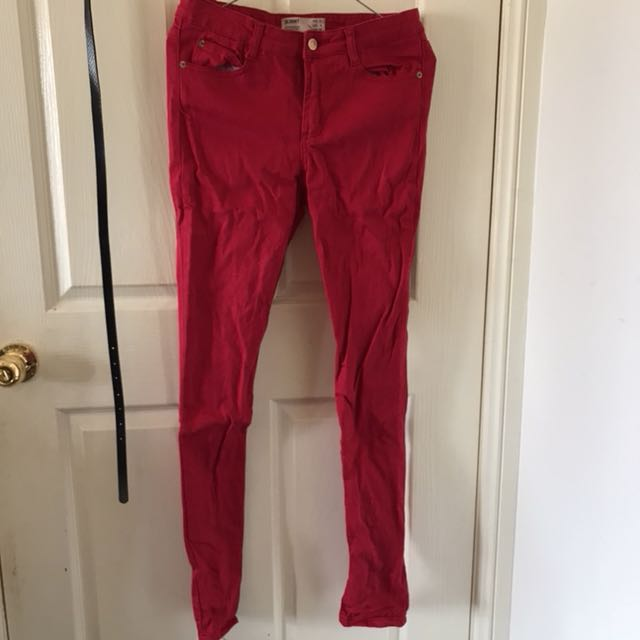 Cotton On Red Skinny Jeans