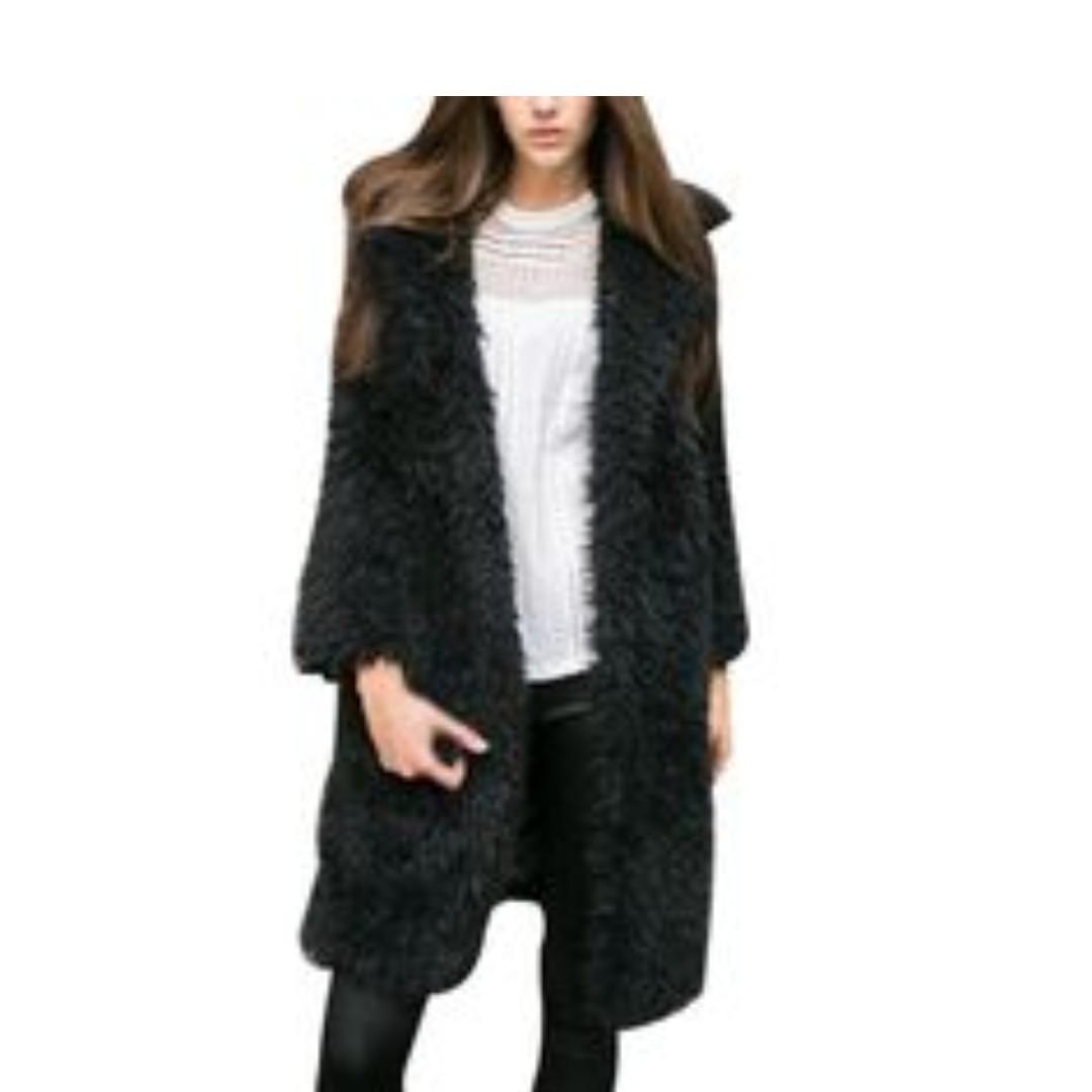 Designer Oioninos Autumn Winter Fashion Full Sleeve Faux Fur Cardigan