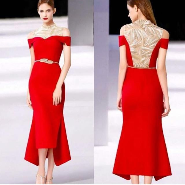 Diskon 50% Dress moschino merah