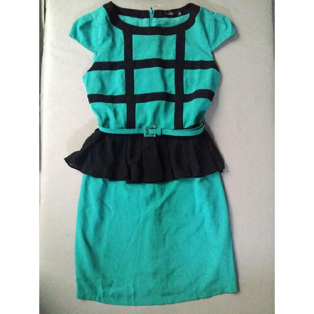 Dress Peplum Formal Kantor