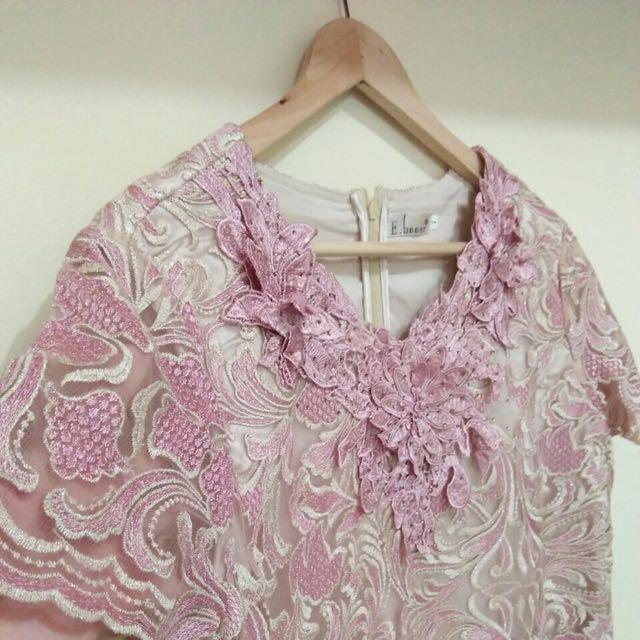 Dusty Pink Gaun Pesta Mom Dress