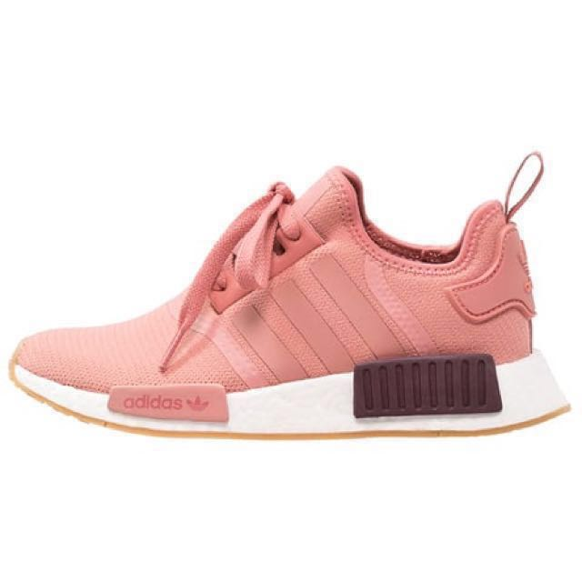 4e19b4e07 ... coupon for exclusive adidas nmd r1 raw pink white womens fashion shoes  on carousell cdba2 8773a