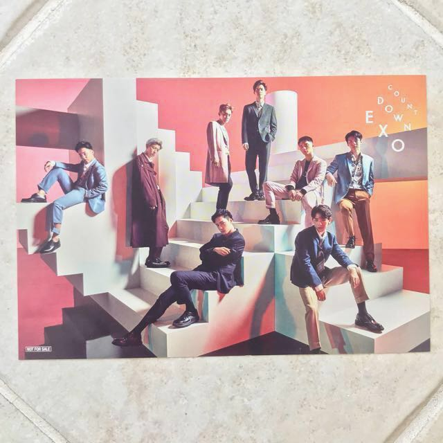 EXO Countdown Post Card (First Press Limited Edition)